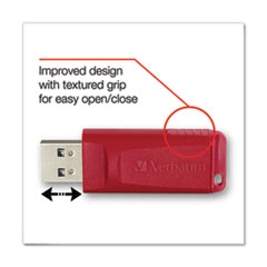 1Store 'n' Go USB Flash Drive, 8 GB, Red
