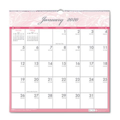 Recycled Breast Cancer Awareness Monthly Wall Calendar, 12 x 12, 2020