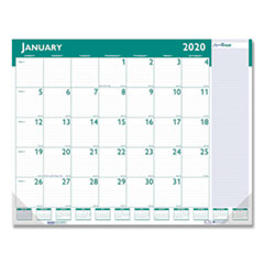 Express Track Monthly Desk Pad Calendar, 22 x 17, 2020-2021