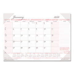 Recycled Breast Cancer Awareness Monthly Desk Pad Calendar, 18 1/2 x 13, 2020