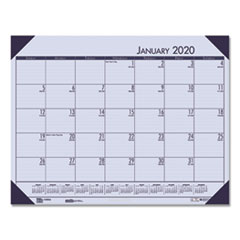 Recycled EcoTones Sunset Orchid Monthly Desk Pad Calendar, 22 x 17, 2020