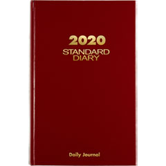 Standard Diary Recycled Daily Journal, Red, 7 11/16 x 12 1/8, 2019