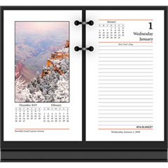 Photographic Desk Calendar Refill, 3 1/2 x 6, 2019