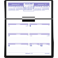 Flip-A-Week Desk Calendar Refill, 5 5/8 x 7, White, 2019