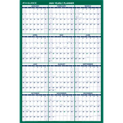 Vertical Erasable Wall Planner, 32 x 48, 2019