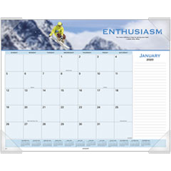 Motivational Panoramic Desk Pad, 22 x 17, Motivational, 2019