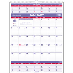 Three-Month Wall Calendar, 22 x 29, 2019