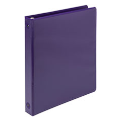 "Earth's Choice Biobased Economy Round Ring View Binders, 1"" Cap., Purple"