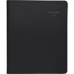 QuickNotes Weekly/Monthly Appointment Book, 8 x 9 7/8, Black, 2019