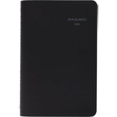 QuickNotes Weekly/Monthly Appointment Book, 4 7/8 x 8, Black, 2019