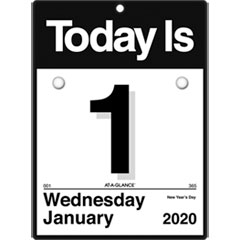 Today Is Wall Calendar, 6 5/8 x 9 1/8, White, 2019