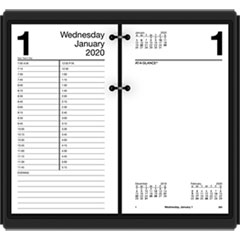 Large Desk Calendar Refill, 4 1/2 x 8, White, 2019
