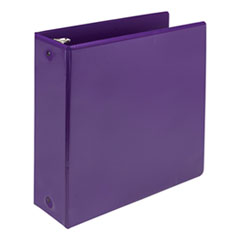 "Earth's Choice Biobased Economy Round Ring View Binders, 4"" Cap., Purple"