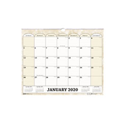 Recycled Monthly Horizontal Wall Calendar, 14 7/8 x 12, 2019