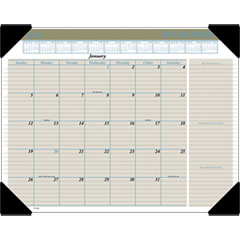 Executive Monthly Desk Pad Calendar, 22 x 17, Buff, 2019