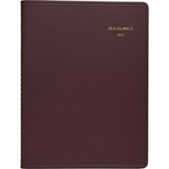 Weekly Appointment Book, 8 1/4 x 10 7/8, Winestone, 2019