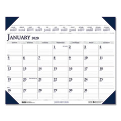 Executive Monthly Desk Pad Calendar, 24 x 19, 2020