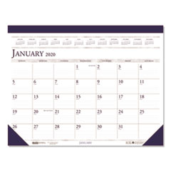 Recycled Two-Color Monthly Desk Pad Calendar, 22 x 17, 2020