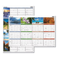 Seasons in Bloom Vertical/Horizontal Erasable Wall Planner, 24 x 36, 2020