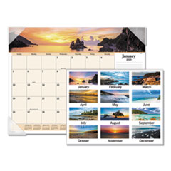 Images of the Sea Monthly Desk Pad Calendar, 22 x 17, 2019