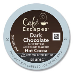 Dark Chocolate Hot Cocoa K-Cups, 24/Box, 4 Box/Carton