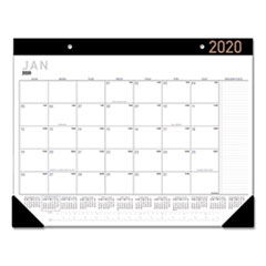 Contemporary Monthly Desk Pad, 21 3/4 x 17, 2019