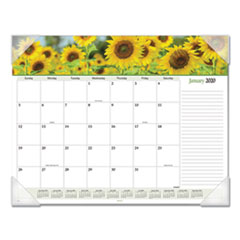 Floral Panoramic Desk Pad, 22 x 17, Floral, 2019