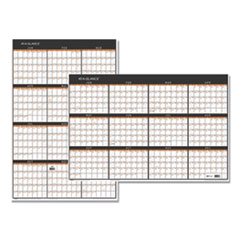 Contemporary Two-Sided Yearly Erasable Wall Planner, 24 x 36, 2019