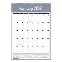 Recycled Bar Harbor Wirebound Monthly Wall Calendar, 12 x 17, 2019