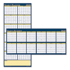 Recycled Reversible Yearly Wall Planner, 60 x 26, 2020