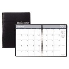 Recycled Ruled Monthly Planner, 14-Month Dec.-Jan., 11 x 8 1/2, Black, 2019-2021