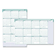 Recycled Express Track Reversible/Erasable Yearly Wall Calendar, 24 x 37, 2020