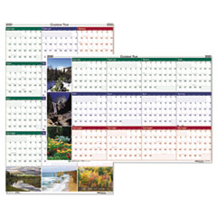 Recycled Earthscapes Nature Scene Reversible Yearly Wall Calendar, 24 x 37, 2019