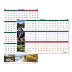Recycled Earthscapes Nature Scene Reversible Yearly Wall Calendar, 32 x 48, 2020