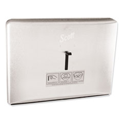 Personal Seat Toilet Seat Cover Dispenser, Stainless Steel, 16.6 x 12.3 x 2.5