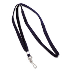 "Deluxe Lanyards, J-Hook Style, 36"" Long, Blue, 24/Box"