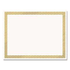 Foil Border Certificates, 8.5 x 11, Ivory/Gold, Braided, 12/Pack