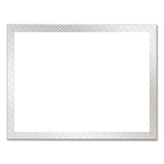 1Foil Border Certificates, 8.5 x 11, White/Silver, Braided, 15/Pack
