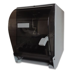 "1Lever Action Roll Towel Dispenser, 11 1/4"" x 9 1/2"" x 14 3/8"", Transparent"