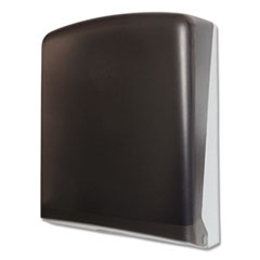 "1Folded Towel Dispenser, 11"" x 4 1/2"" x 14"", Smoke"