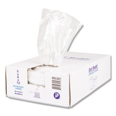 "Ice Bucket Liner Bags, 3 qt, 0.5 mil, 6"" x 12"", Clear, 1,000/Carton"
