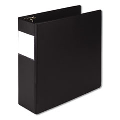 "Earth's Choice Biobased Round Ring Reference Binder, 3 Rings, 4"" Capacity, 11 x 8.5, Black"