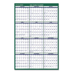 Vertical Erasable Wall Planner, 32 x 48, 2020