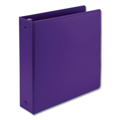 "Earth's Choice Biobased Economy Round Ring View Binders, 3 Rings, 2"" Capacity, 11 x 8.5, Purple"