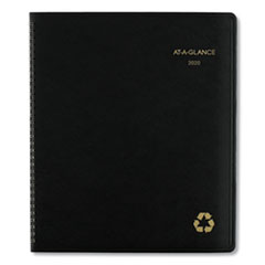 Recycled Monthly Planner, 11 x 8.88, Black, 2020