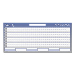 Large Horizontal Erasable Wall Planner, 60 x 26, White/Blue, 2020