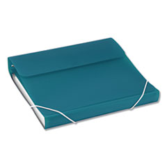 "DUO 2-in-1 Binder Organizer, 3 Rings, 1"" Capacity, 11 x 8.5, Turquoise"
