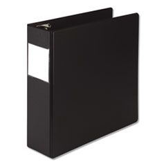 "Earth's Choice Round Ring Reference Binder, 3 Rings, 3"" Capacity, 11 x 8.5, Black"
