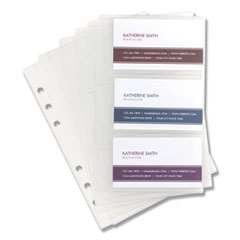 1Refill Sheets for 4 1/4 x 7 1/4 Business Card Binders, 60 Card Capacity, 10/Pack