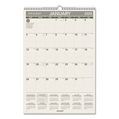 Recycled Wall Calendar, 15 1/2 x 22 3/4, 2020